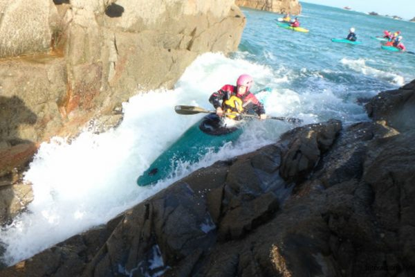 Rockhopping en kayak de mer